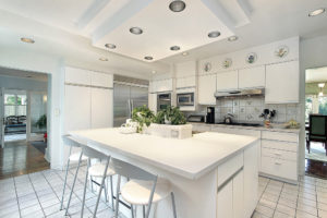 White Cabinetry Kitchen Island Idea