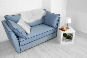 Blue sofa for small living room