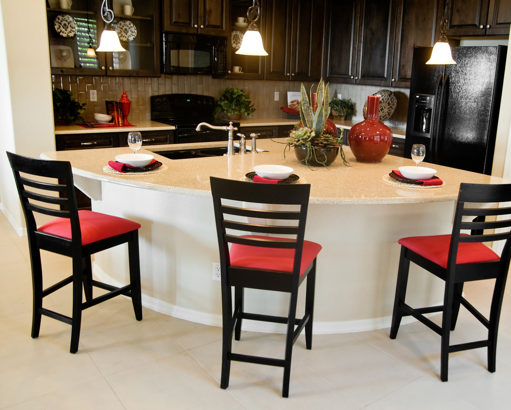 Fan Shape Kitchen Island Idea