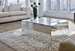 Transparent CocktailCoffee Table for Small Living Room