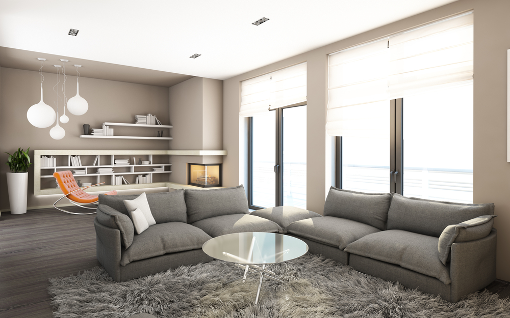 While Not Exactly A Grey And Brown Living Room, The Light Tone Of Brown  Wall Will Appeal To The Homeowner Who Seeks This Special Color Combination  Of Grey ... Part 77