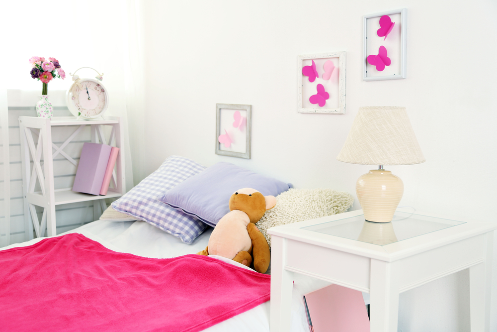 Beautiful Pink Teenage Girls Bedroom