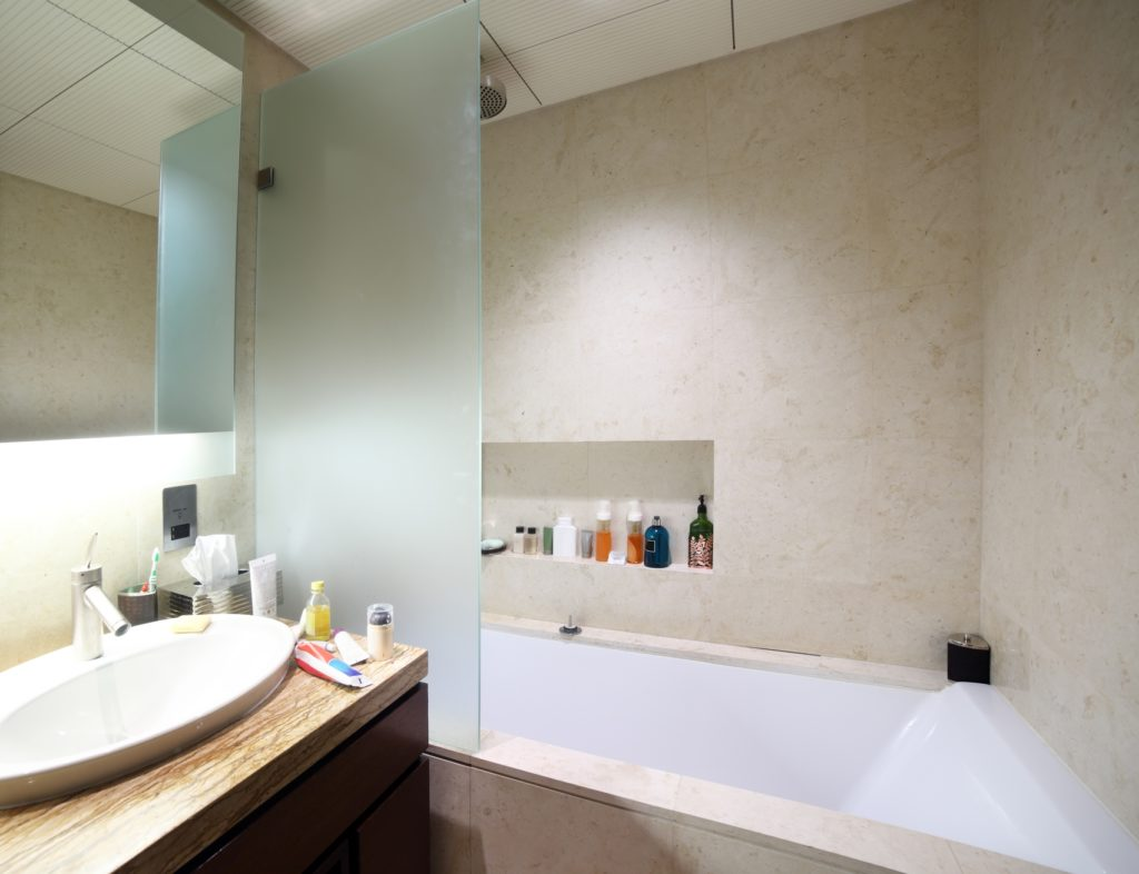 The most clever 2017 and organized bathroom storage for Bathroom built in storage ideas