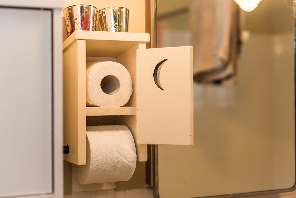 Hidden Toilet Paper Dispenser U2013 Hidden Bathroom Storage. Small Bathroom  Organization Ideas